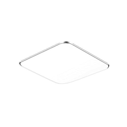 36W Kaltweiß/Warmweiß/Dimmbar LED Modern Deckenlampe Silber Ultraslim Deckenleuchte Schlafzimmer Küche Flur Wohnzimmer Lampe Wandleuchte Energie Sparen Licht