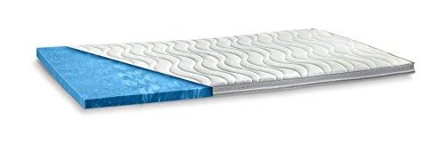 AQUASOFT Gelschaum-Topper Matratzenauflage | 10 cm Gesamthöhe | waschbarer Bezug mit 3D-Mesh-Klimaband und Stegkanten | hydrophile Eigenschaften | besonders softer Touch