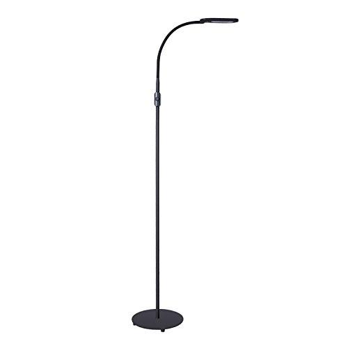 AUKEY LED Stehlampe, Stufenlose Dimmbar mit Flexiblem Hals und Naturweißem Licht, Augenschonende Standleuchte für Schlafzimmer, Wohnzimmer und Büro, 8W