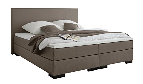belvandeo i boxspringbett verona i h2 i mit hochwertiger bonellfederkern matratze kaltschaum. Black Bedroom Furniture Sets. Home Design Ideas