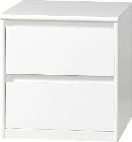 CS Schmalmöbel 75.012.012/01 Grifflose Boxspring Nachtkommode Soft Plus Smart Typ 01, 45 x 55 x 58 cm, weiß