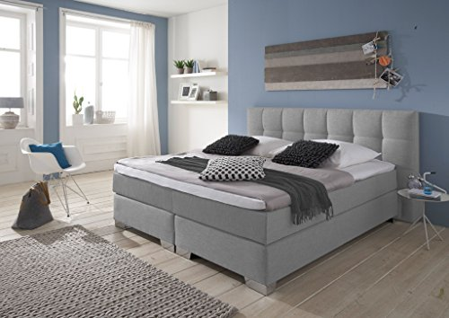 Möbelisten Boxspringbett Home Made in Germany, Boxspringbett in Premium Ausstattung,7-Zonen Matratze, Visco Topper, Luxusbett, Hotelbett, Luxusbett, Hotelbett, Doppelbett H2/H3, Alle Größen