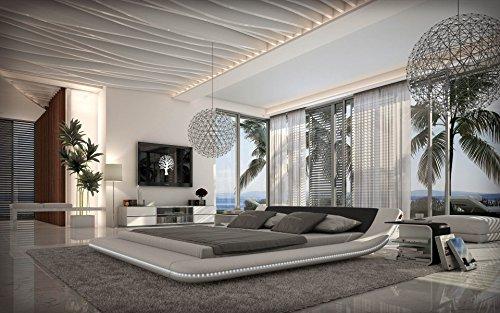Sedex Bett Designerbett Custo 180 x 200 cm Schwarz Weiß modernes Design Wasserbett geeignet Ehebett
