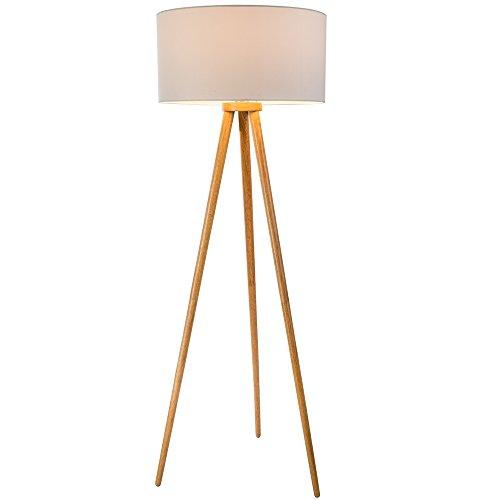 Dreibein Stehleuchte STABILO 1 flg. Stehlampe Standleuchte Leuchte Lampe Holz