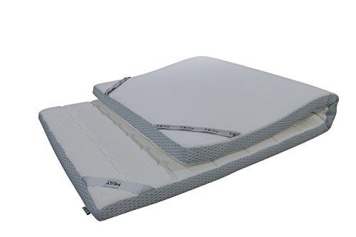 Ebitop Topper-Matratze-Matratzenauflage, Ebi - A1-160.7 Bezug-waschbar Viskose Matratzenauflage, 200x160x7 cm weiß'