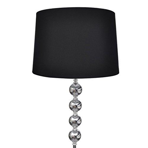 Festnight Stehlampe Stehleuchte Lampe Standleuchte mit Lampenschirm Fußschalter für Wohnzimmer Schlafzimmer - Schwarz