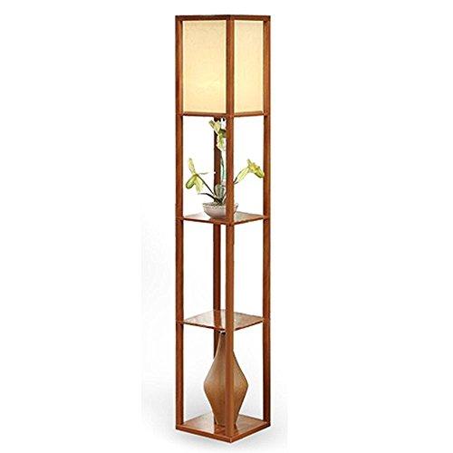 Innenbeleuchtung 1,6 m Holz Stehleuchte mit Böden für Schlafzimmer & Wohnzimmer (ohne Leuchtmittel)