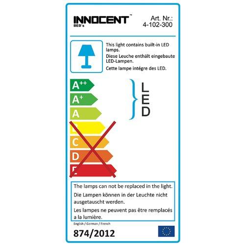 Innocent Polsterbett aus Kunstleder mit LED-Beleuchtung Look