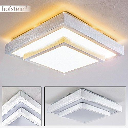 LED Deckenspot Sora 2-stöckig mit Stufen in der Farbe Stahl gebürstet - Moderner LED Deckenstrahler aus Metall für Badezimmer, Flur, Wohnzimmer, Diele, Schlafzimmer - warmweißes Deckenlicht – 3000K