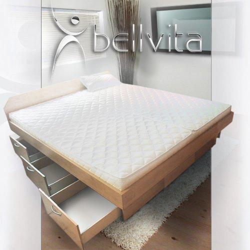 ORIGINAL bellvita Mesamoll II Wasserbett mit Schubladensockel in Komforthöhe, Bettumrandung mit fachgerechtem Aufbau, ALLE Größen frei wählbar, auch 180 cm x 220 cm