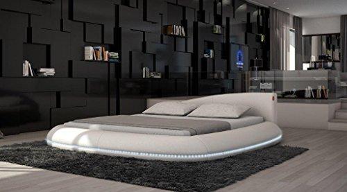 rundbett komplettbett modica led matratze lattenrost boxspringbetten online. Black Bedroom Furniture Sets. Home Design Ideas