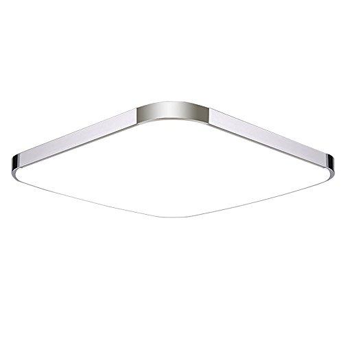 SAILUN 12W LED Deckenlampe Kaltweiß/Warmweiß Modern Deckenleuchte Schlafzimmer Küche Energie Lampe Flur Wohnzimmer Silber