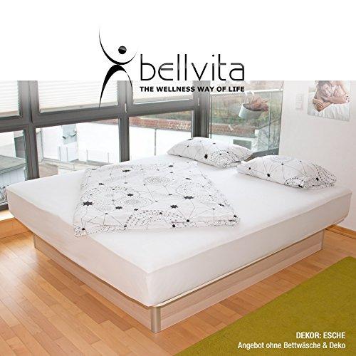 bellvita WASSERBETTEN inkl. Lieferung und AUFBAUSERVICE durch Fachpersonal, 160 cm x 200 cm (Esche)