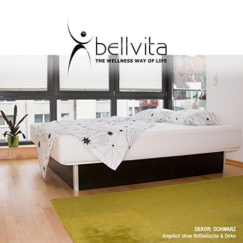 bellvita WASSERBETTEN inkl. Lieferung und AUFBAUSERVICE durch Fachpersonal, 160 cm x 200 cm (schwarz)