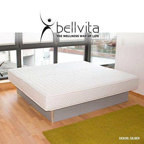 bellvita WASSERBETTEN inkl. Lieferung und AUFBAUSERVICE durch Fachpersonal, 160 cm x 200 cm (silber)