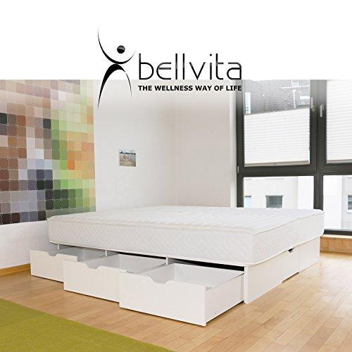 bellvita WASSERBETTEN SCHUBLADENSOCKEL inkl. Lieferung und AUFBAUSERVICE durch Fachpersonal, 180 cm x 200 cm