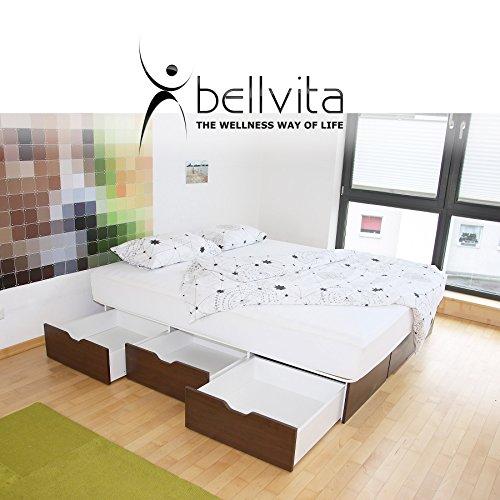 bellvita WASSERBETTEN SCHUBLADENSOCKEL inkl. Lieferung und AUFBAUSERVICE durch Fachpersonal, 200 cm x 220 cm