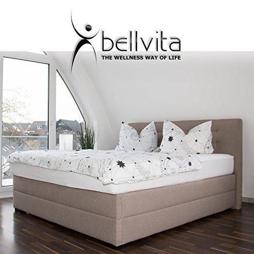 bellvita silverline Wasserbett BOXSPRING-Optik inkl. Lieferung & Aufbau durch Fachpersonal, 180cm x 200cm