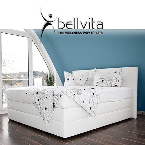 bellvita silverline Wasserbett BOXSPRING-Optik inkl. Lieferung & Aufbau durch Fachpersonal, 200cm x 200cm