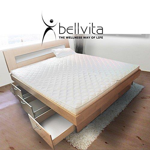 bellvita silverline Wasserbett mit Soft-Close Schubladensockel & Bettumrandung inkl. Lieferung & Aufbau durch Fachpersonal, 200cm x 220cm