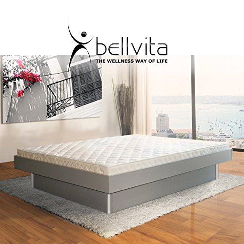 SONDERAKTION bellvita silverline Wasserbett mit Unterbausockel in KOMFORTHÖHE & Bettumrandung inkl. Lieferung & Aufbau durch Fachpersonal, 200 cm x 220 cm