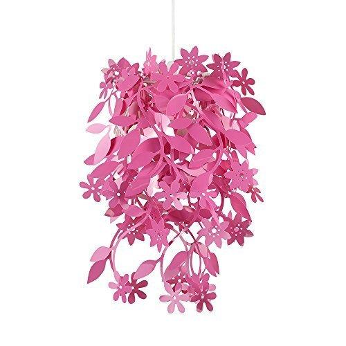 Schöner und moderner Lampenschirm mit hängendem Blumen- und Blütenmotiv – für Hänge- und Pendelleuchte