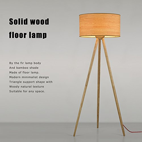 Stehleuchte Holz Stehleuchte Morden Minimalist Wohnzimmer Schlafzimmer Kreativ Stativ Stehleuchte Japanische Stil Einfache vertikale Beleuchtung Erleuchtung