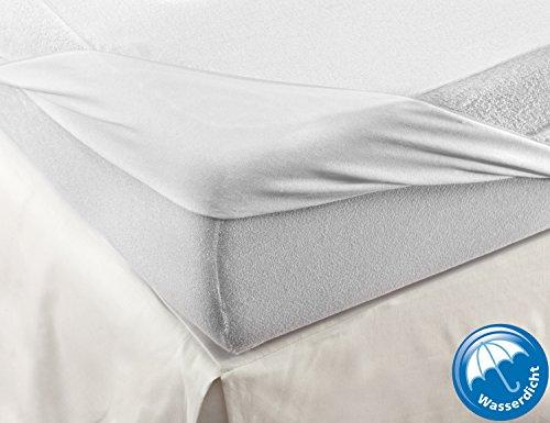 Velfont Wasserdichte atmungsaktive Matratzenschoner Matratzenauflage mit 100% Baumwolle Frottee.