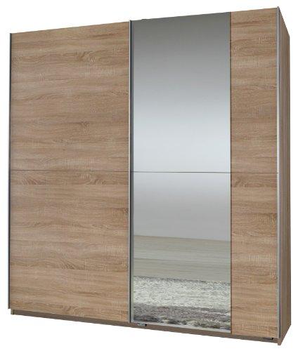 Wimex Kleiderschrank/Schwebetürenschrank Queen, 1 Spiegel, (B/H/T) 180 x 198 x 64 cm, Eiche Sägerau