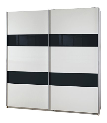 Wimex Kleiderschrank/ Schwebetürenschrank Chess Glas, (B/H/T) 135 x 198 x 64 cm, Grau