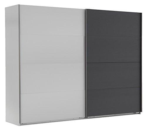 Wimex Kleiderschrank/ Schwebetürenschrank Easy A Plus, (B/H/T) 225 x 210 x 65 cm, Weiß/ Absetzung Anthrazit