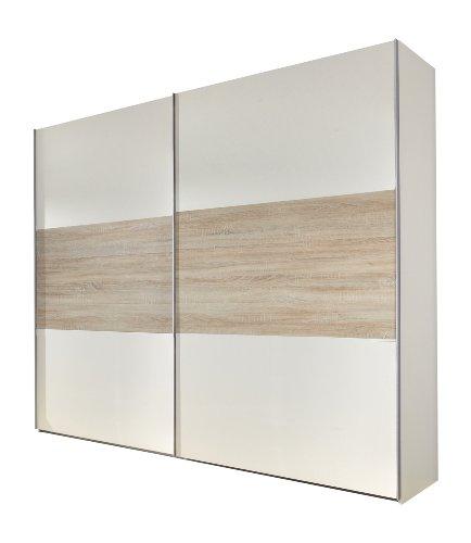 Wimex Kleiderschrank/Schwebetürenschrank Match Up, (B/H/T) 270 x 236 x 65 cm, Alpinweiß/Absetzung Eiche Sägerau