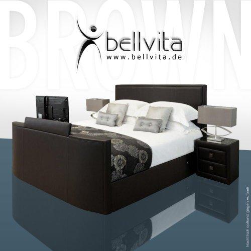 bellvita LUXUS Wasserbett Mesamoll II mit ECHTLEDER-Bettrahmen und versenkbarem Flatscreen TV inkl. Montage