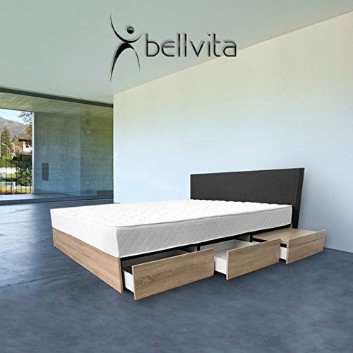 bellvita wasserbetten fashion mit integrierten nachttischen sonoma eiche. Black Bedroom Furniture Sets. Home Design Ideas