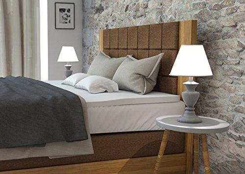 m bel24 boxspringbett sam boxspringbett amsterdam holz eiche stoff braun bonellfederkern. Black Bedroom Furniture Sets. Home Design Ideas