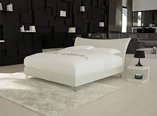 sam design boxspringbett wild grenada wei mit 7 zonen h2 taschenfederkern matratze und chrom. Black Bedroom Furniture Sets. Home Design Ideas