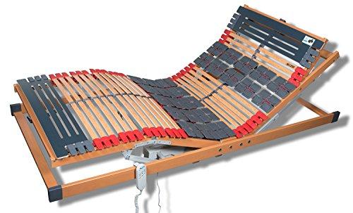 7 Zonen Teller Lattenrost Rhodos EL Komfort - Kopf- und Fußteil elektrisch verstellbar 2 Tellerzonen Lattenroste Funkfernbedienung in verschiedenen Größen