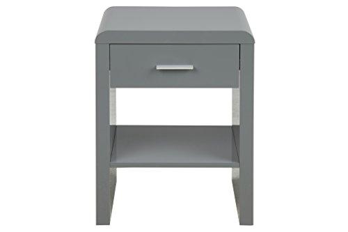 AC Design Furniture 64200 Nachttisch, Holz, grau, 35 x 45 x 59 cm