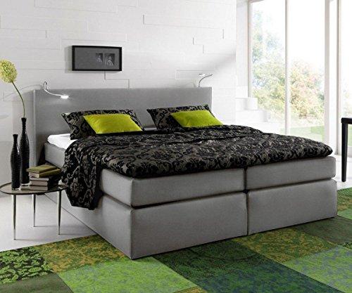 delife bett junis schwarz 180x200 cm mit topper und. Black Bedroom Furniture Sets. Home Design Ideas