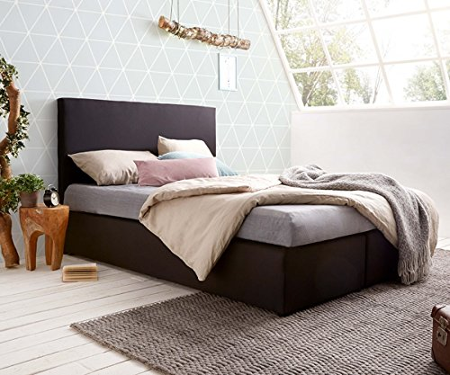 bett elexa schwarz 140 x 200 cm matratze und topper federkern boxspringbett m bel24. Black Bedroom Furniture Sets. Home Design Ideas