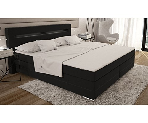 delife bett livana schwarz 180 200 cm kingsize matratze boxspringbett m bel24 boxspringbett. Black Bedroom Furniture Sets. Home Design Ideas
