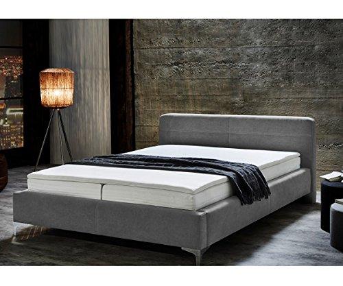 bett magdalina grau 180x200 cm vintage inklusive topper boxspringbett. Black Bedroom Furniture Sets. Home Design Ideas