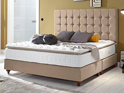 Boxspringbett Berlin Hotelbett Doppelbett Matratze Topper Modern Luxus Bett