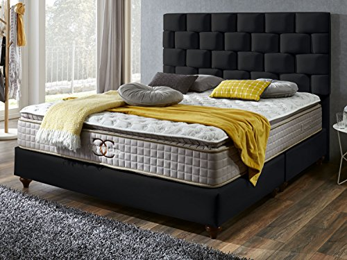 Boxspringbett Zürich Hotelbett Doppelbett Matratze Topper Modern Luxus Bett