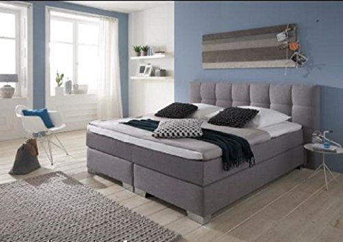 Breckle Boxspringbett 180 x 200 cm Dorinta Box Split Hollanda 1000 TFK Topper Gel Premium Standard