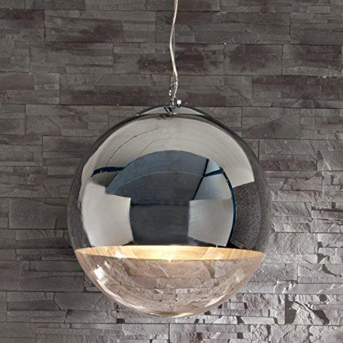 CAGÜ - DESIGN LOUNGE HÄNGELAMPE HÄNGELEUCHTE [PELOTA] GLAS & CHROM 30cm Ø