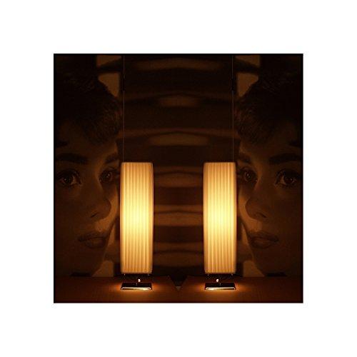 CAGÜ - DESIGN PLISSEE TISCHLAMPE TISCHLEUCHTE [LOOP] WEISS 58cm HÖHE