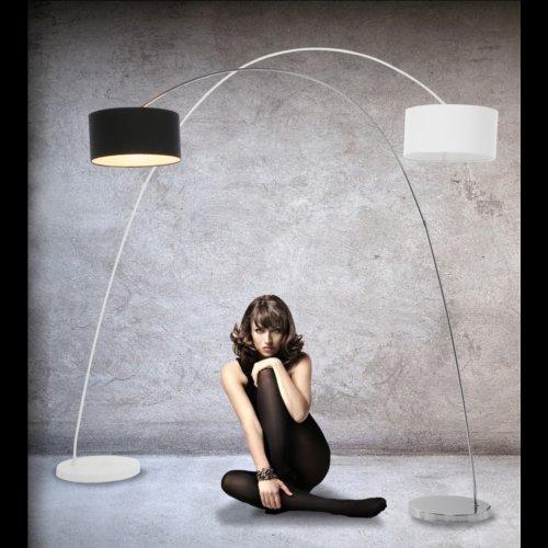 DESIGN BOGENLAMPE von DESIGN DELIGHTS lounge stehlampe schwanenhals lampe schwarz Bogenleuchte