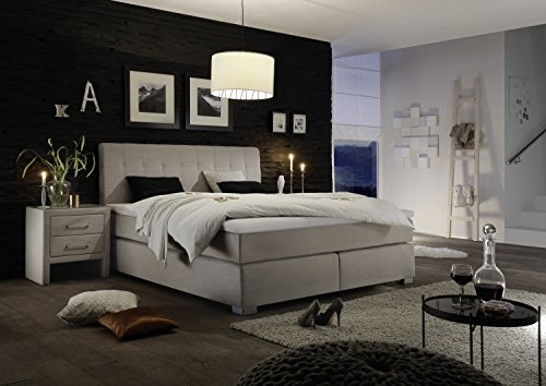 design boxspringbett hotelbett beige 200 x 200 cm h3 h3. Black Bedroom Furniture Sets. Home Design Ideas