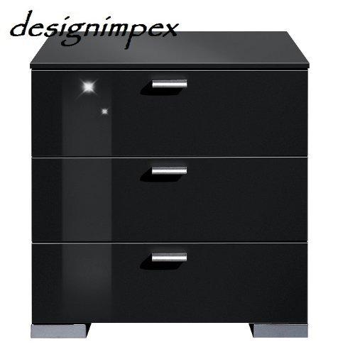 Design Nachtkonsole Nachtkommode Nachttisch Boxspringbett Boxspring A-2 schwarz Hochglanz